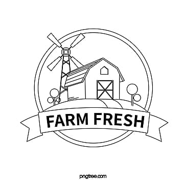 black line farm windmill icon Template