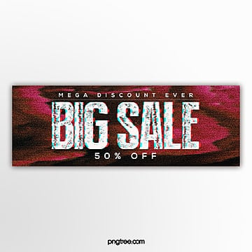 distressed text failure style webpage promotion banner Template