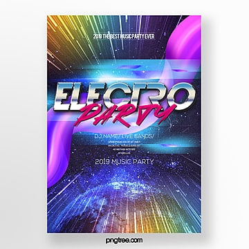 electronic music party fashion gradient abstract poster Template