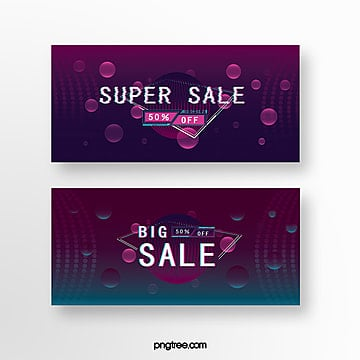 fault style purple promotion banner coupon Template