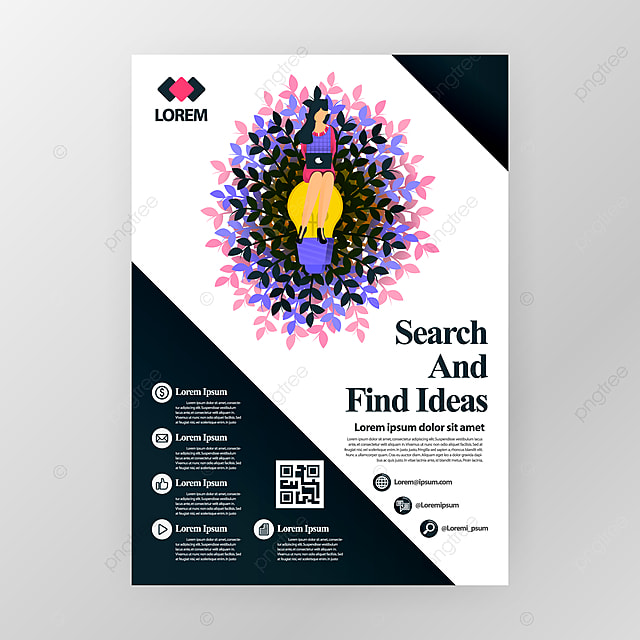Business Poster For Company For Seminars On Finding Ideas In