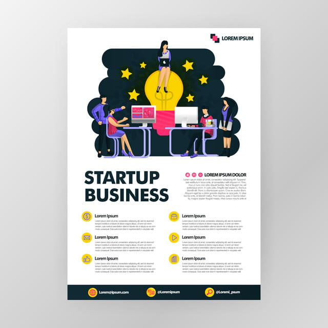 Business Poster For Startup Technology Industries Looking
