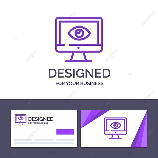 Kreative Visitenkarten Und Logo Vorlagen überwachen Den
