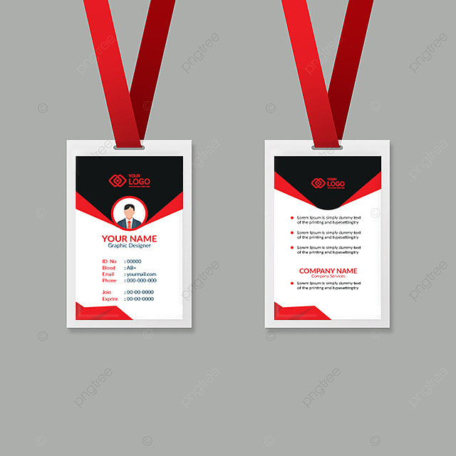 rad color employee id card design template template for