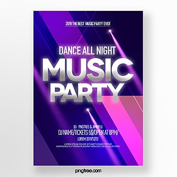 abstract color gradient silver party night poster design Template
