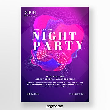 abstract gradient nightclub party poster Template