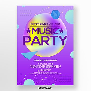 abstract style fashion color gradient party night poster Template