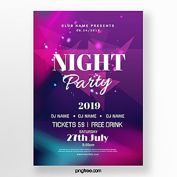 color glare party night gradient abstract poster Template