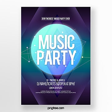 color gradient abstract fashion party night poster Template