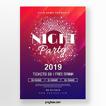 color gradient party night abstract poster Template