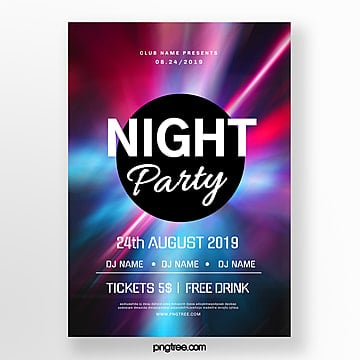 color party night abstract poster Template
