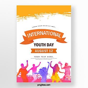 colorful watercolor style youth festival poster Template