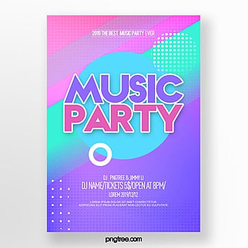 fashion color gradient party night abstract poster Template