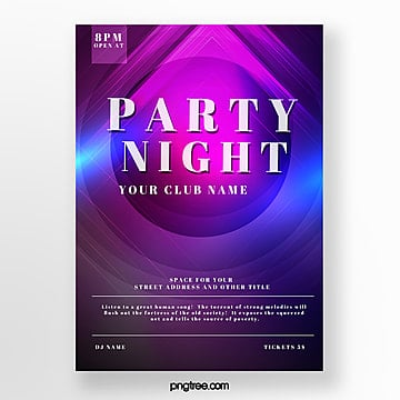 fashion round gradient music party poster Template