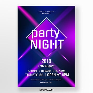 glare party night gradient poster Template