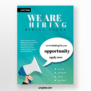 green company recruitment poster Template