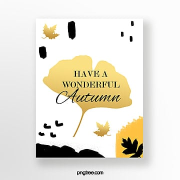 hand drawn autumn greeting card Template
