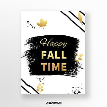 ink style autumn blessing card Template