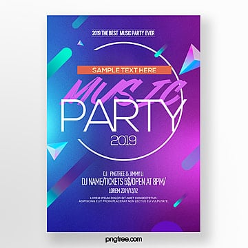modern abstract fashion color gradient party night poster Template