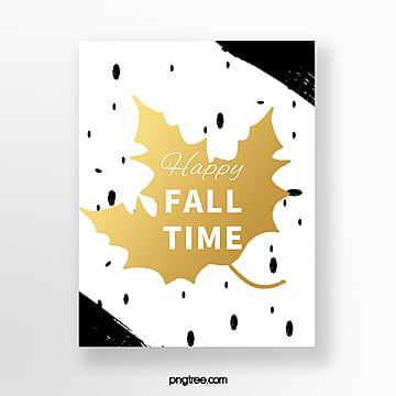 simple maple autumn greeting card Template