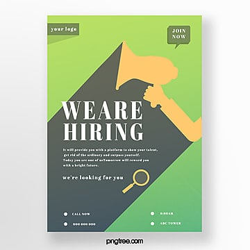 simple projection company recruitment poster Template