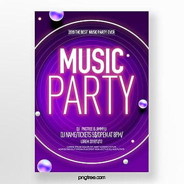 simple style fashion abstract color gradient party night poster Template