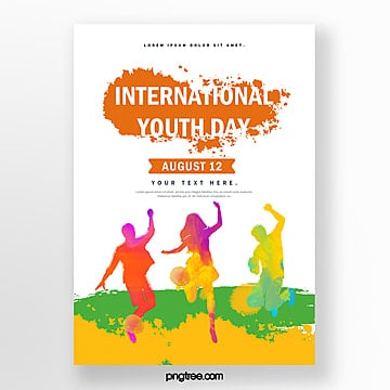 simple watercolor youth festival poster Template