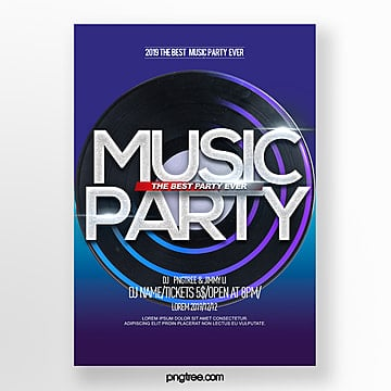 stylish simple color gradient party night poster Template