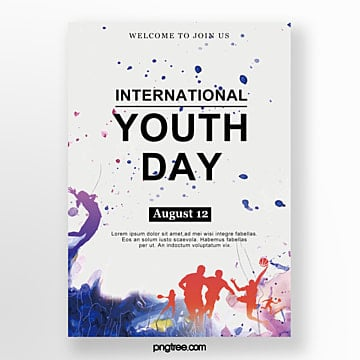 watercolor sports youth festival poster Template