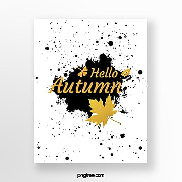 creative golden autumn blessing card Template