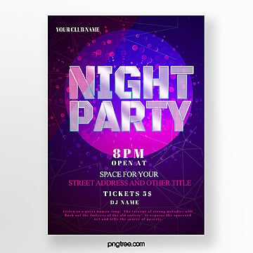 line geometric gradient party poster Template