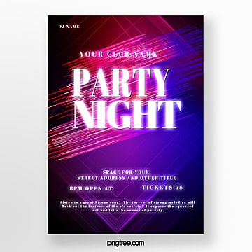 party night gradient abstract poster Template