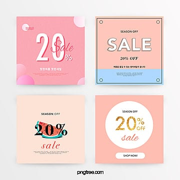pink simple and refreshing summer promotion discount set Template