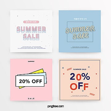 refreshing geometric style summer discount promotion set Template