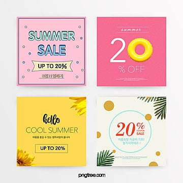 summer simple and refreshing style summer promotion discount set Template