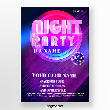 trend color abstract music party poster Template