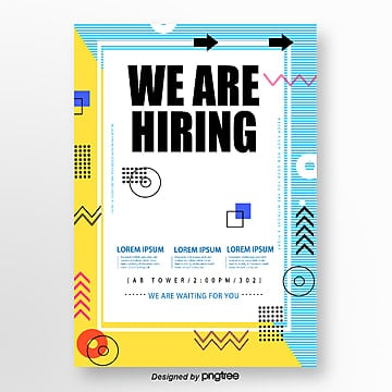 yellow memphis wave point recruitment poster Template