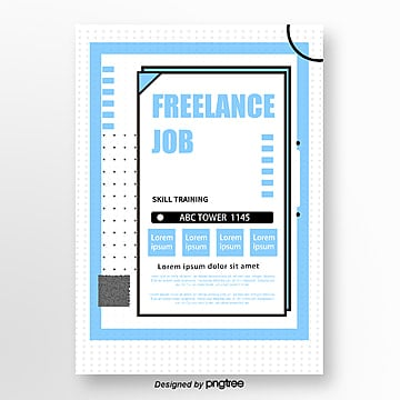 blue fresh wave spot recruitment poster Template