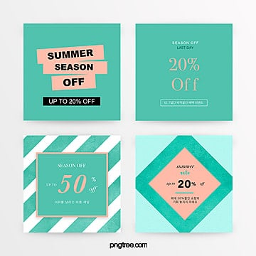 green fresh and simple summer promotion set Template