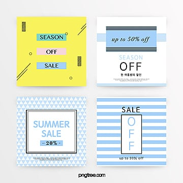 refreshing simple summer promotion set Template