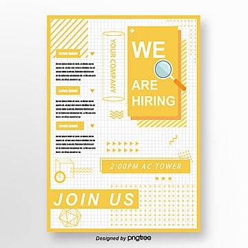 yellow memphis fresh recruitment poster Template