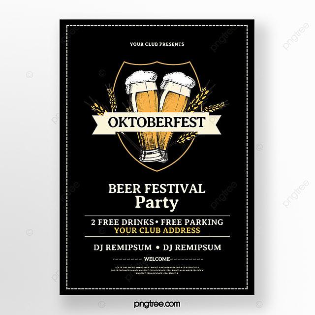 minimal oktoberfest poster