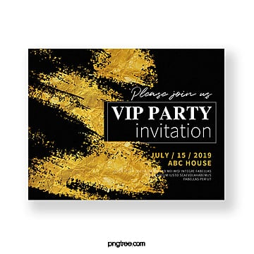 gold foil texture invitation Template