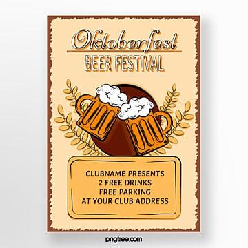 hand gezeichnetes oktoberfest plakat Vorlage