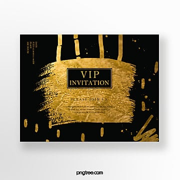 high end gold foil business invitation Template