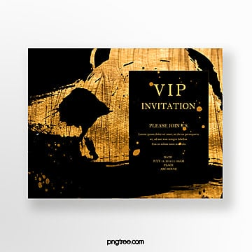 luxury gold foil business invitation Template
