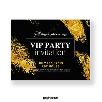 luxury gold high end texture invitation Template