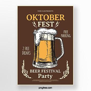 minimales oktoberfest plakat Vorlage