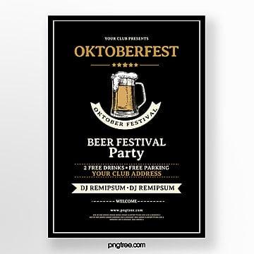 oktoberfest kreatives plakat Vorlage