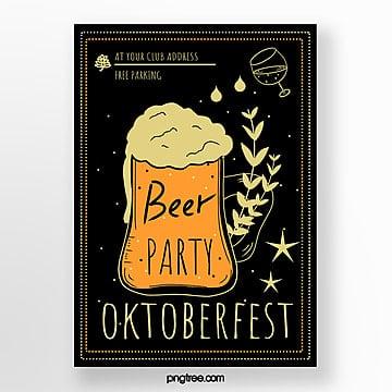 gezeichnetes illustrations vertikalenplakat oktoberfest weizens hand Vorlage